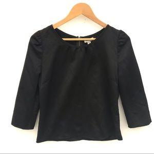 Silence + noise Anthropology black blouse